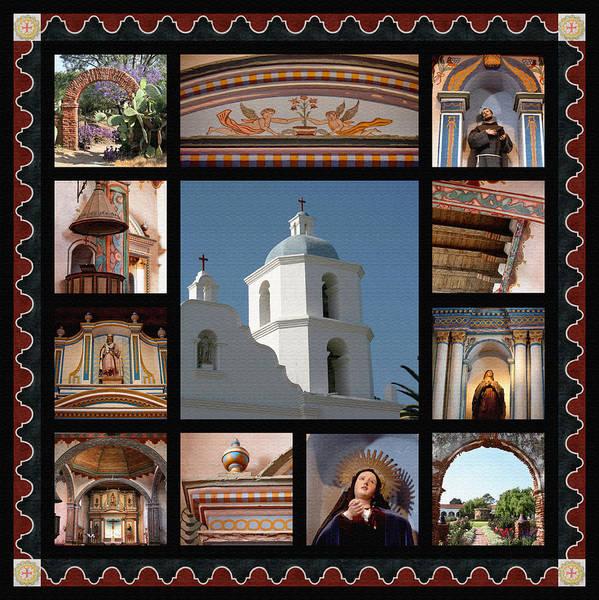 San Luis Rey De Francia Photograph - Mission San Luis Rey by Art Block Collections