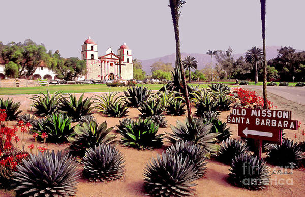 Mission Santa Barbara Photograph - Mission Santa Barbara by Linda  Parker