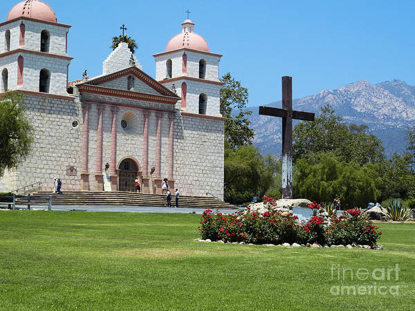Mission Santa Barbara Photograph - Mission Santa Barbara by Methune Hively