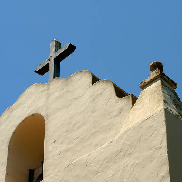 Solvang Photograph - Mission Santa Ines by Art Block Collections