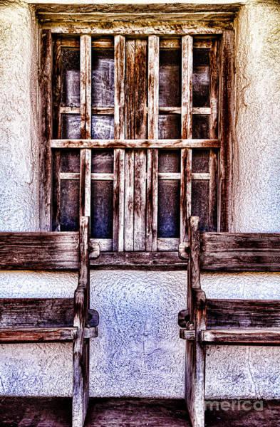 Photograph - Mission Soledad Window Seating By Diana Sainz by Diana Raquel Sainz