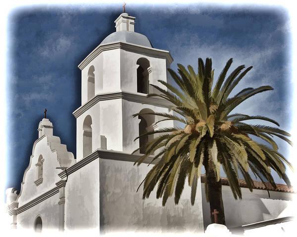 San Luis Rey De Francia Photograph - Mission Tower - San Luis Rey by Jon Berghoff