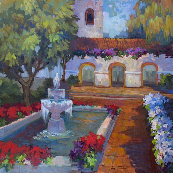 Wall Art - Painting - Mission Via Dolorosa by Diane McClary