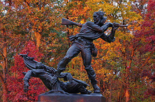 Wall Art - Photograph - Mississippi At Gettysburg - The Rage Of Battle No. 1 by Michael Mazaika