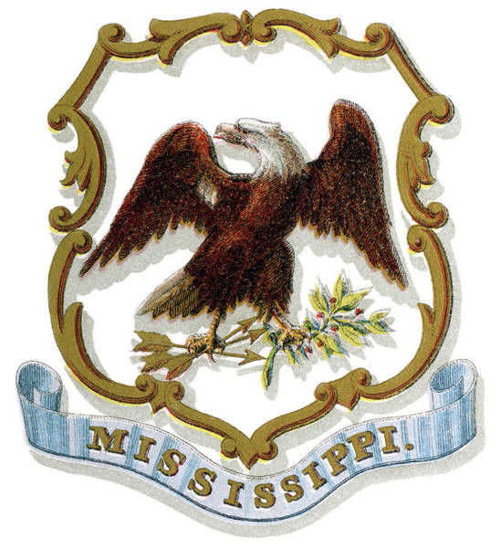 Wall Art - Painting - Mississippi Coat Of Arms by Granger