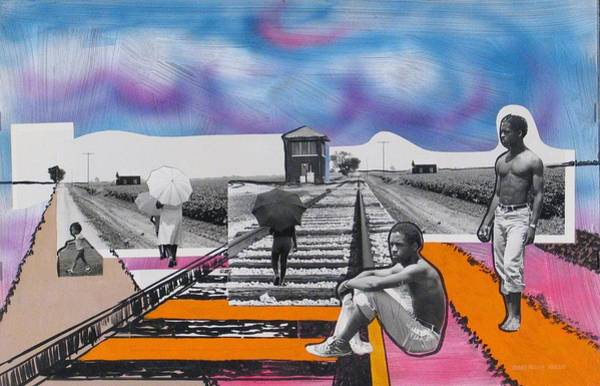 Delta Mixed Media - Mississippi Line by Rollin Kocsis