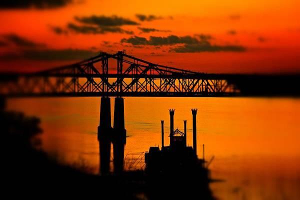 Photograph - Mississippi River Natchez Sunset by Jim Albritton