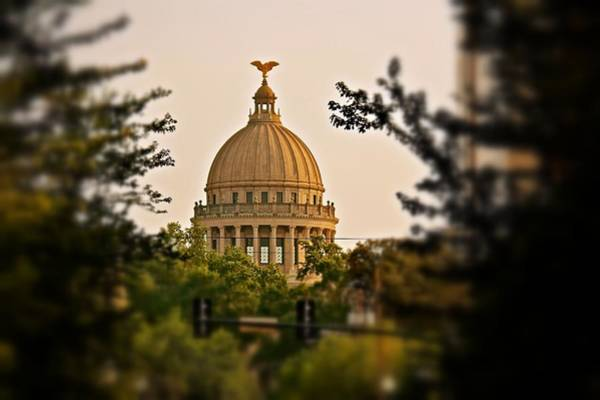 Photograph - Mississippi State Capitol Dome by Jim Albritton
