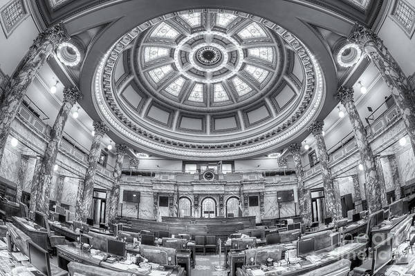 Photograph - Mississippi State Capitol Senate Chamber Iv by Clarence Holmes