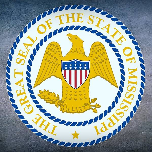 Digital Art - Mississippi State Seal by Movie Poster Prints