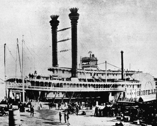 Wall Art - Photograph - Mississippi Steamboat, C1870 by Granger