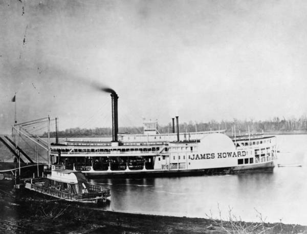 Photograph - Mississippi Steamboat, C1875 by Granger