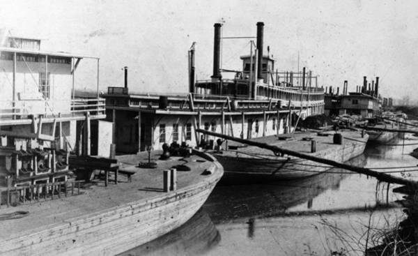 Wall Art - Photograph - Mississippi Steamboats by Granger