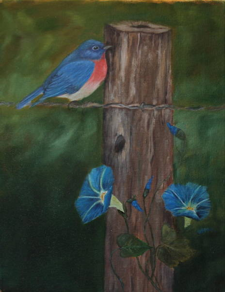 Painting - Missouri Blue Bird II by DG Ewing