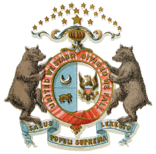 Wall Art - Painting - Missouri Coat Of Arms by Granger