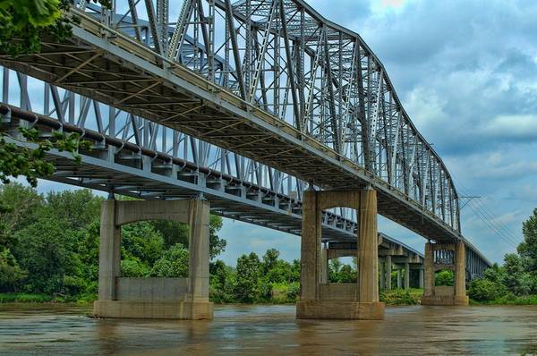 Photograph - Missouri River Bridge At Sugar Creek by Tim McCullough