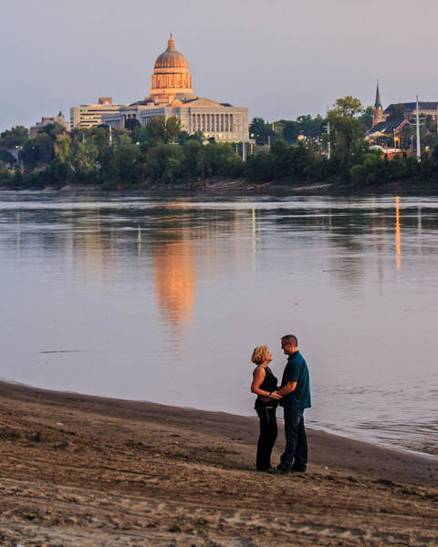 Wall Art - Photograph - Missouri River Couple by Kevin Anderson
