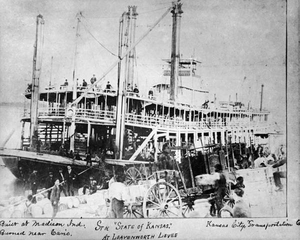 Photograph - Missouri River Steamboat by Granger