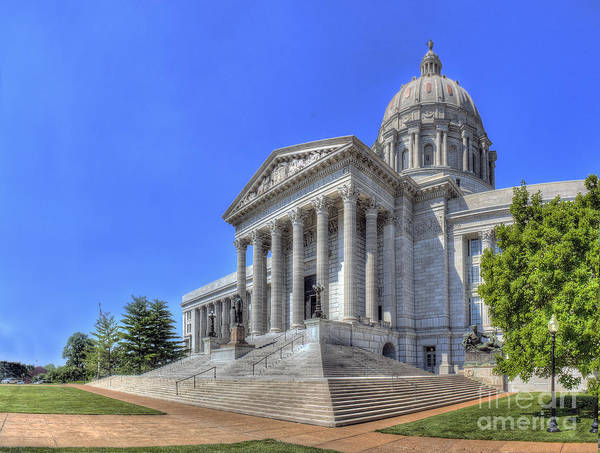 Jefferson Photograph - Missouri State Capitol by Twenty Two North Photography