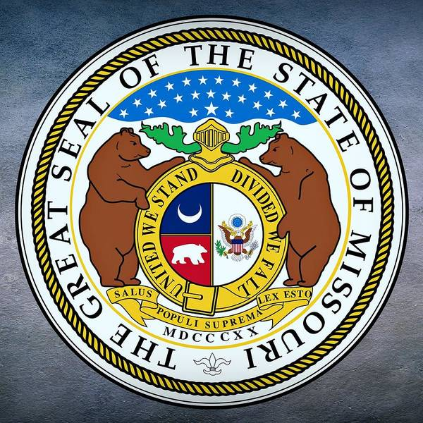 Digital Art - Missouri State Seal by Movie Poster Prints