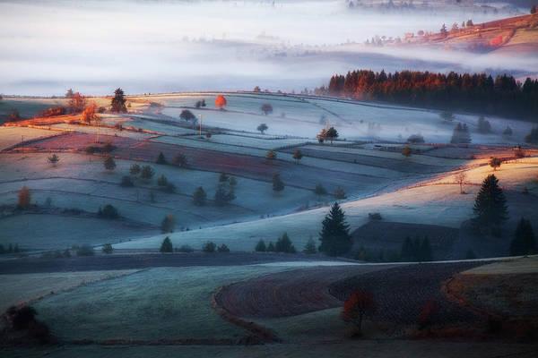 Farm Landscape Photograph - Mist by Amir Bajrich