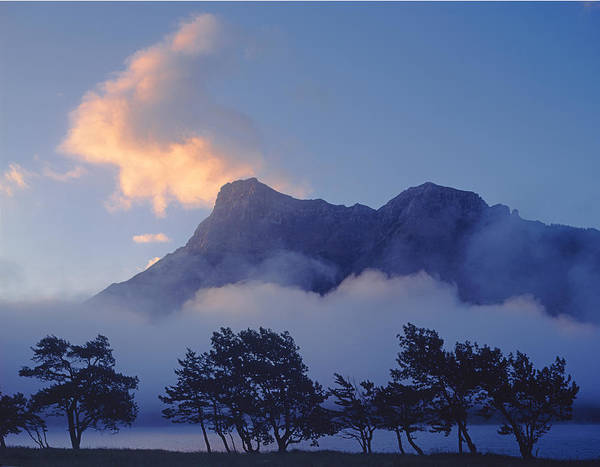 Photograph - 1m3004-mist At Waterton by Ed  Cooper Photography