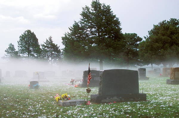 Tombstone Photograph - Mist by Jim Reed/science Photo Library
