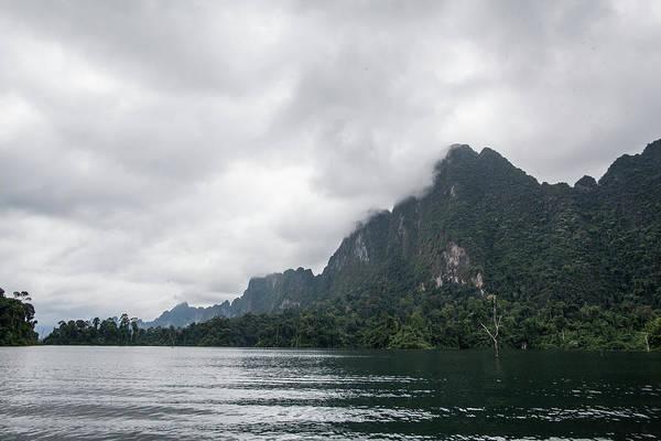 Mist On Chieow Laan Lake, Khoa Sok Art Print