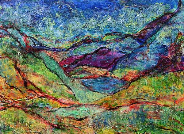 Painting - Misted Mountains by Regina Valluzzi