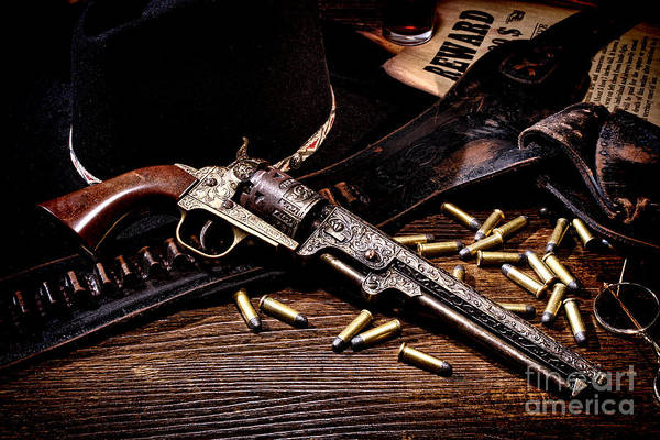 Antique Firearms Wall Art - Photograph - Mister Durant's Revolver by Olivier Le Queinec