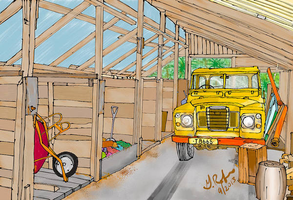 Toolshed Wall Art - Painting - Mister Filby's Toolshed by Gerry Robins