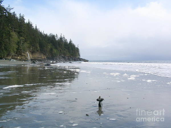 Photograph - Mistic Beach With Cairn by Vivian Martin