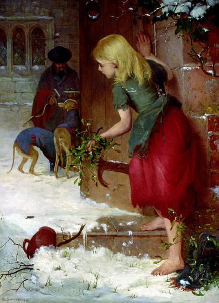 Feeding Painting - Mistletoe Seller by Samuel Edmund Waller