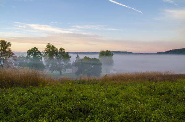 Wall Art - Photograph - Misty Autumn Morning - Valley Forge by Bill Cannon