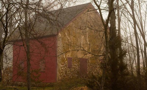 Photograph - Misty Batsto Barn by Kristia Adams