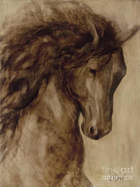 Andalusian Stallion Wall Art - Painting - Misty by Catherine Davis