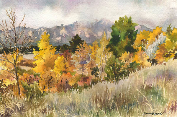 Wall Art - Painting - Misty Fall Day by Anne Gifford