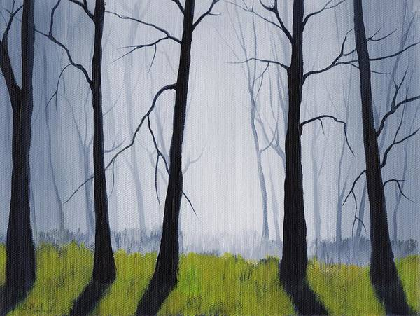 Wall Art - Painting - Misty Forest by Anastasiya Malakhova
