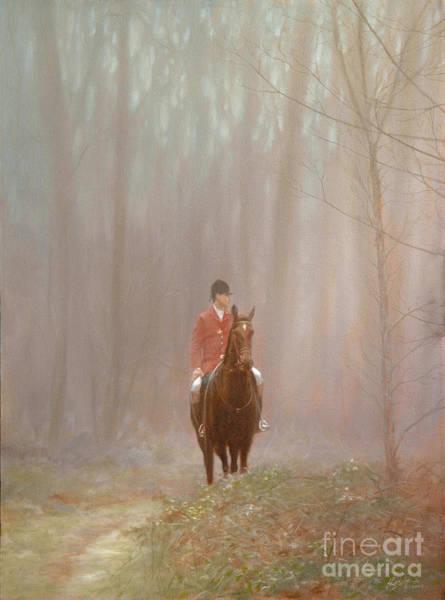 Wall Art - Painting - Misty Huntsman by John Silver