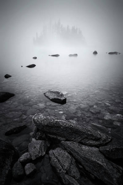 Clear Water Photograph - Misty Lake by Lydia Jacobs
