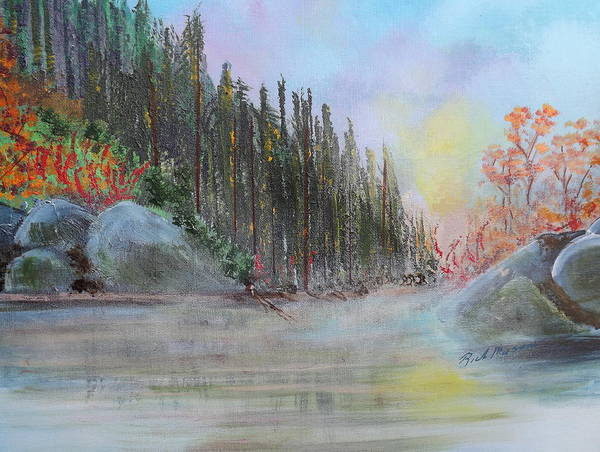 Wall Art - Painting - Misty Morn by Rich Mason