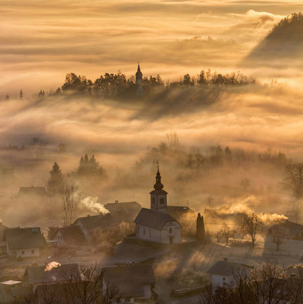 Misty Photograph - Misty Morning by Ales Krivec