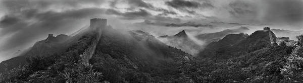 Chinese Photograph - Misty Morning At Great Wall by Yan Zhang