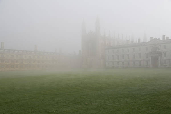 Campus Photograph - Misty Morning At Kings College by Chris Mellor