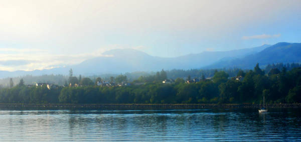Port Of Vancouver Wall Art - Photograph - Misty Morning In Port Angeles by Connie Fox