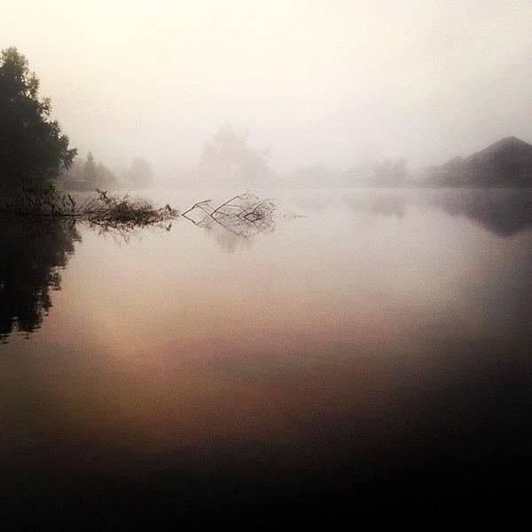 Wall Art - Photograph - Misty Morning #iphone5 by Scott Pellegrin