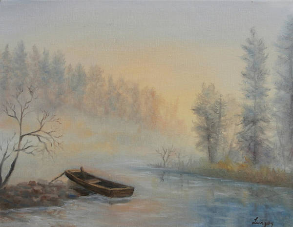 Painting - Misty Morning by Katalin Luczay