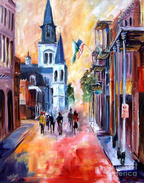 Wall Art - Painting - Misty Morning On Chartres Street by Diane Millsap