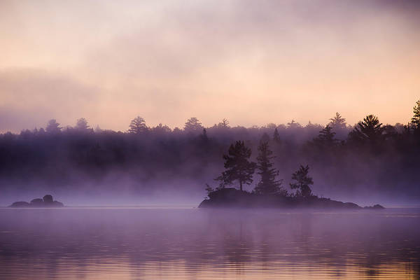 Boundary County Photograph - Misty Morning On Lake One by Joe Miller