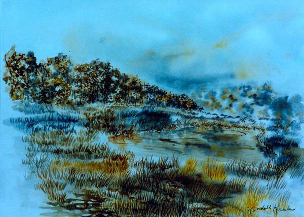 Painting - Misty Morning Pond by Kendall Kessler